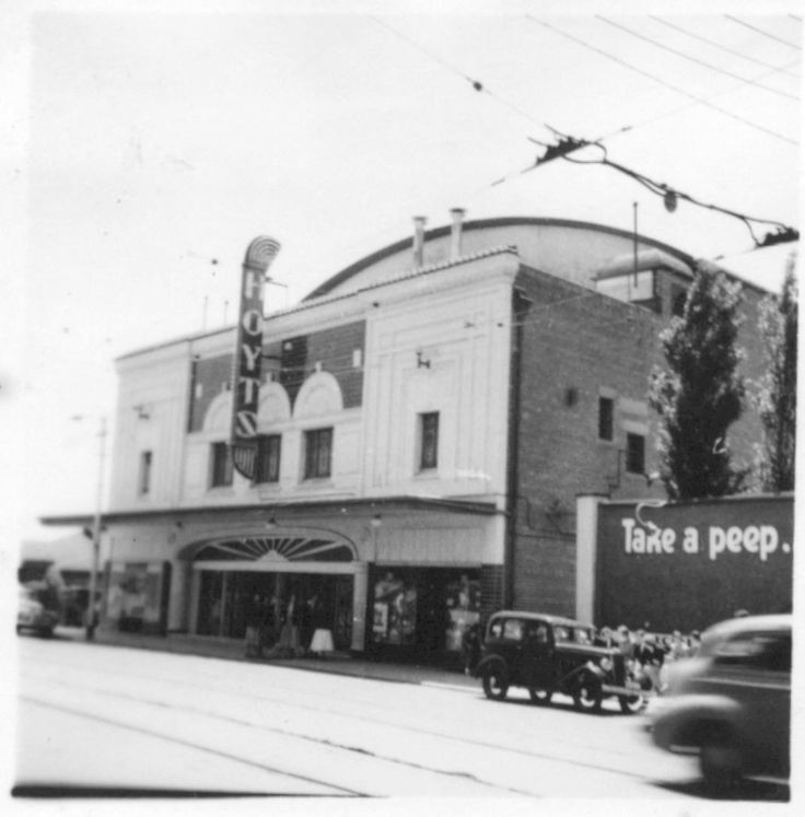 Former Gardner Hoyts theatre 1601 Malvern Road, Glen Iris, Melbourne, Australia.  Closed in 1959, since demolished to make way for office buildings, Foodworks supermarket chain national headquarters is on this site today.