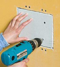 Installer le patch de plaques de plâtre