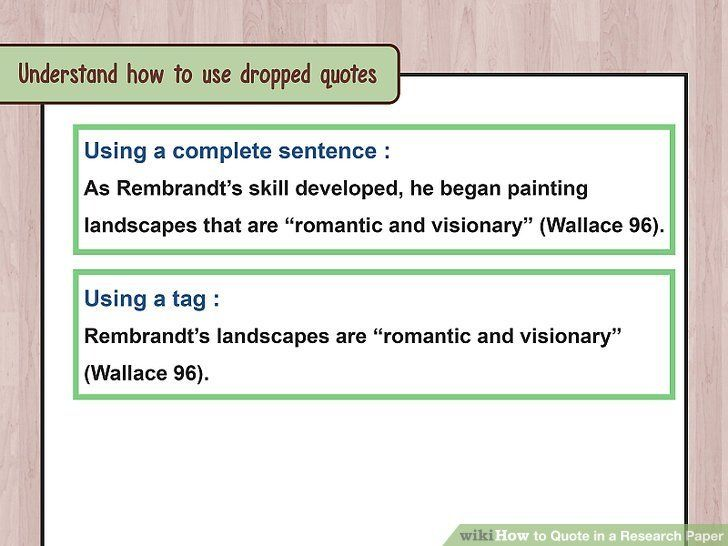 How To Quote In A Research Paper With Example Wikihow Within Be An Quotes Do You Need Paraphrase Wikipedia