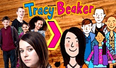 Tracey Beaker, is about children who live in care and have a hard life, this is on cbbc.