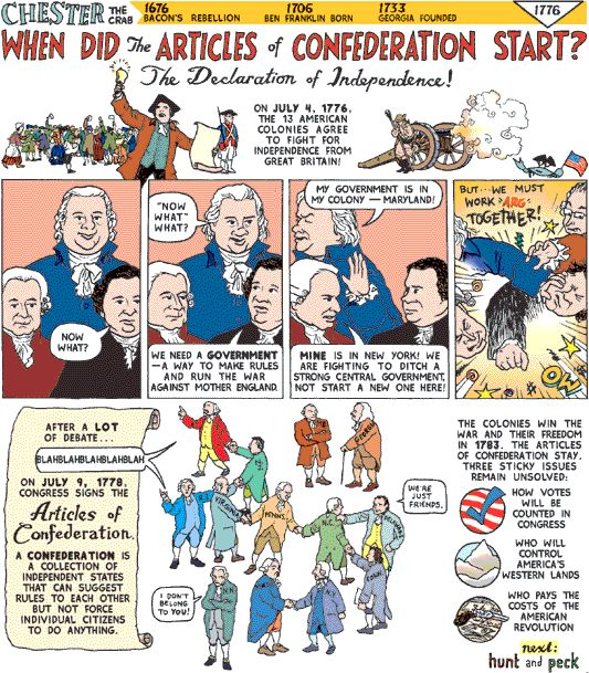teaching the articles of confederation high school