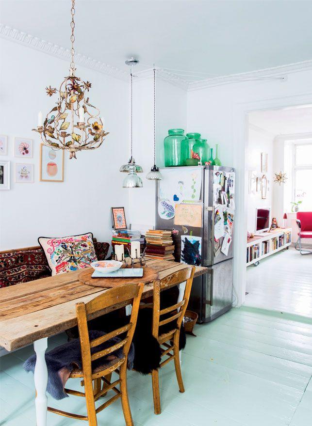 Velkommen til scenografen Trine Padmos lyse, luftige og poetisk indrettede lejlighed midt i København.