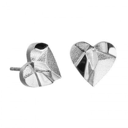 My Foolish Heart earrings silver Design Björn Weckström / Lapponia Jewelry / Handmade in Helsinki