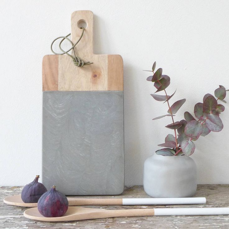 cacia Wood And Sandstone Chopping Board by LILAC COAST