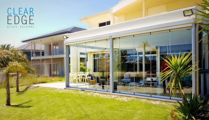 Clear Edge Glass | sunroom | glass sliding door | indoor outdoor space | retractable glass | home decor | interior design | Australia | home projects | glass outdoor room