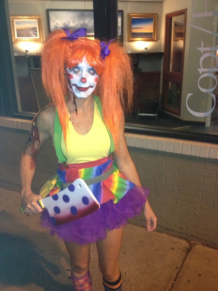 Killer Clown Halloween Costumes For Girls.Pictures Of Female Killer Clown Costume Rock Cafe