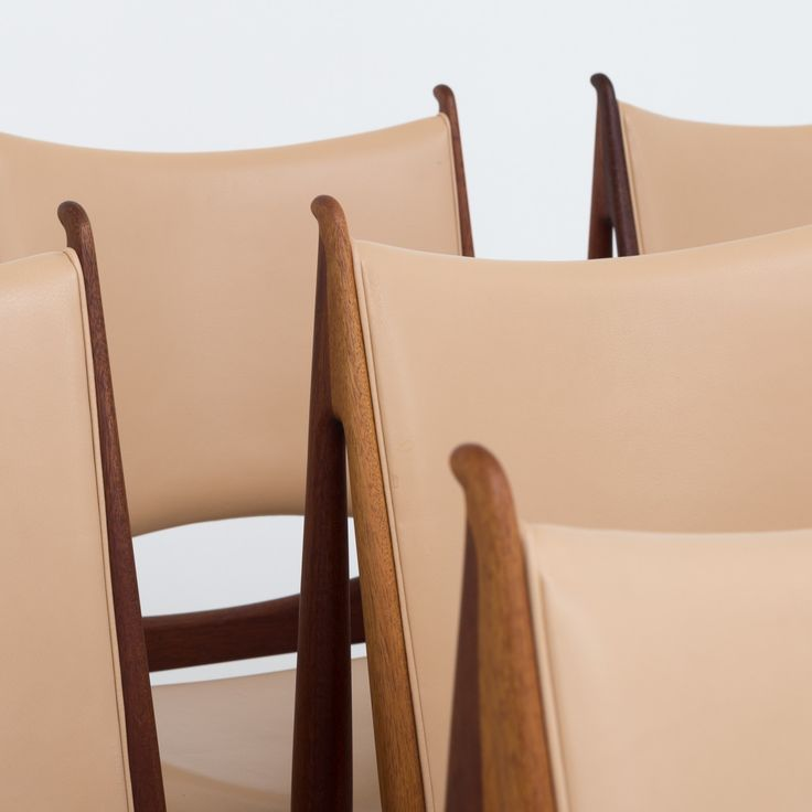 Egyptians chairs in mahogany (set)
