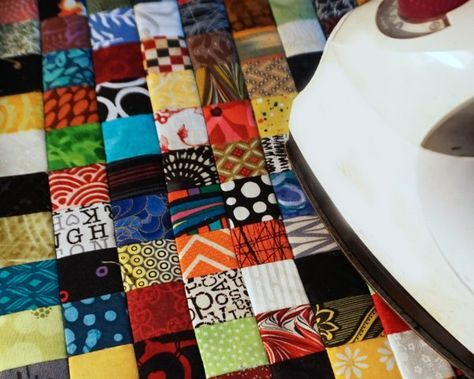 Use this quick postage stamp patchwork tip to make perfectly stitched itty-bitty patchwork squares.