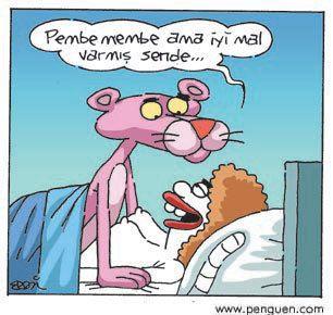 Pembe Panter   18 | Pembe membe ama iyi mal varmış sende. karikatür