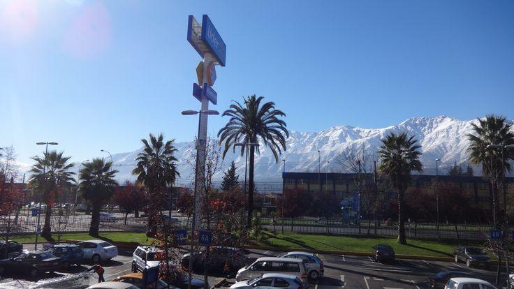 cordillera de los andes nevada .  Stgo. de Chile