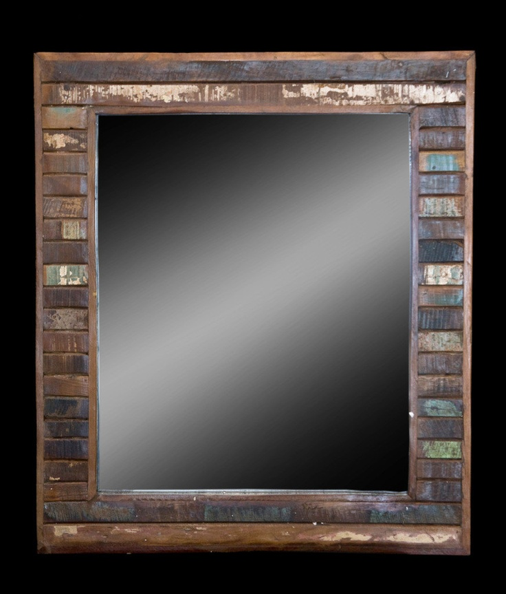 x extra large mirror with reclaimed wood picture frame from antique old salvaged wood - Extra Large Frames