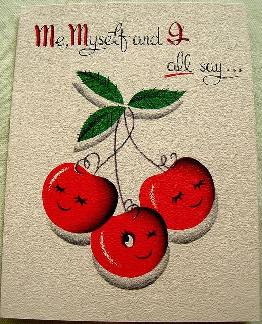 Для мамы, открытки с вишенкой