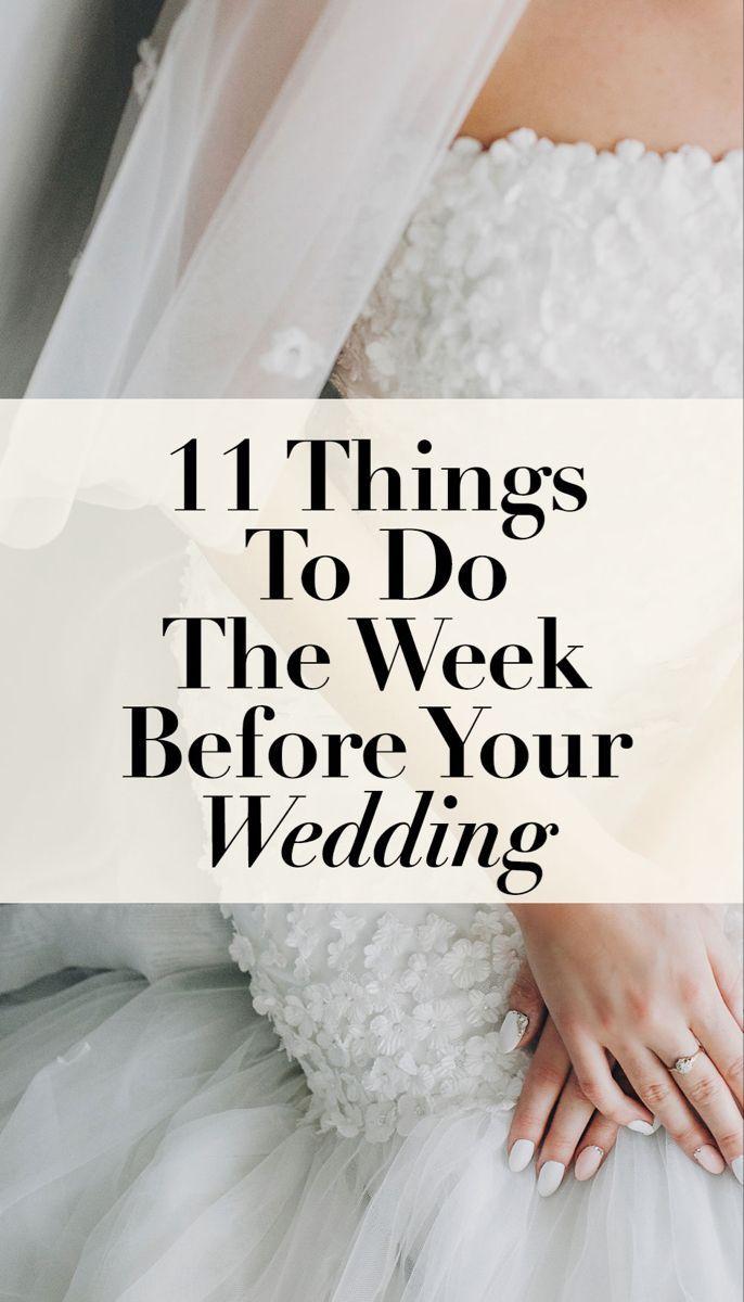Week Before Wedding Checklist Wedding To Do List Wedding To Do List First Wedding Night Wedding Checklist
