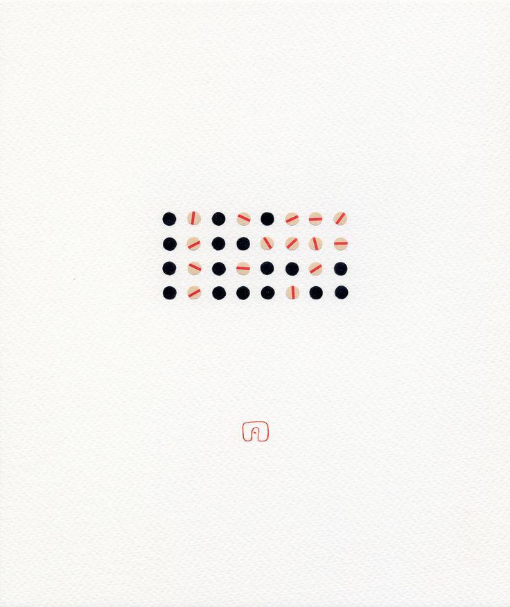 Word N°01 - 21 x 25 cm / Art by Slavomir Zombek
