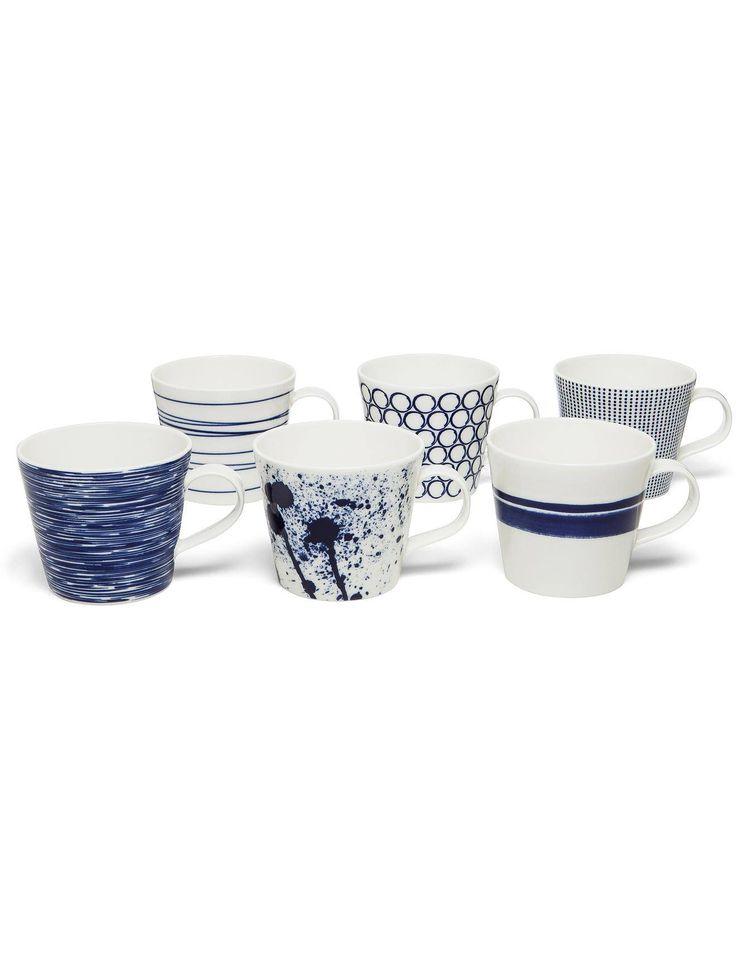 Hannah - Pacific Mugs Set Of 6 | David Jones