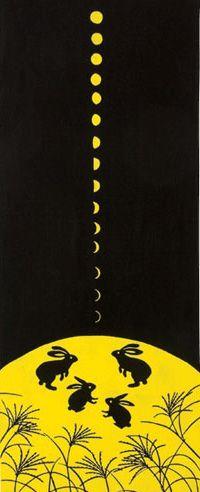【楽天市場】[和布華(わふか)]手ぬぐい 月見うさぎ 日本手拭い(てぬぐい) 手ぬぐい専門店「わざっか本舗」:わざっか本舗