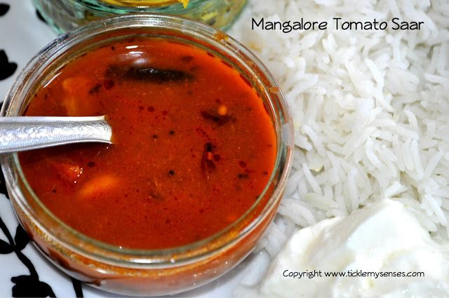 Simple Mangalore Tomato Saar or Tomato Soup without lentils.