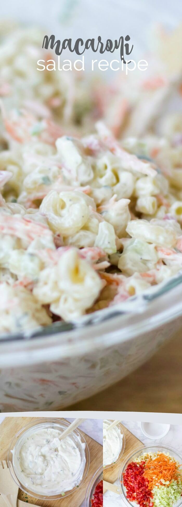 Elbow Macaroni Salad, Great Side Dish For Parties, Pin Now For Later!