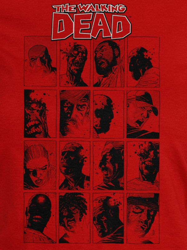 J!NX : The Walking Dead Faces Women's Tee - Clothing Inspired by Video Games & Geek Culture