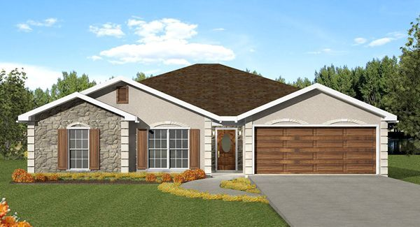 Looking for a simple, affordable one-story house plan they you'll want to check out House Plan 5664. It features 3 Bedrooms (all grouped together - perfect for young families), 2 Baths and 2 garages. At 52' wide and 50' deep its cost effective to build and suitable for most small, flat lots. http://www.thehousedesigners.com/plan/the-sinclair-5664/