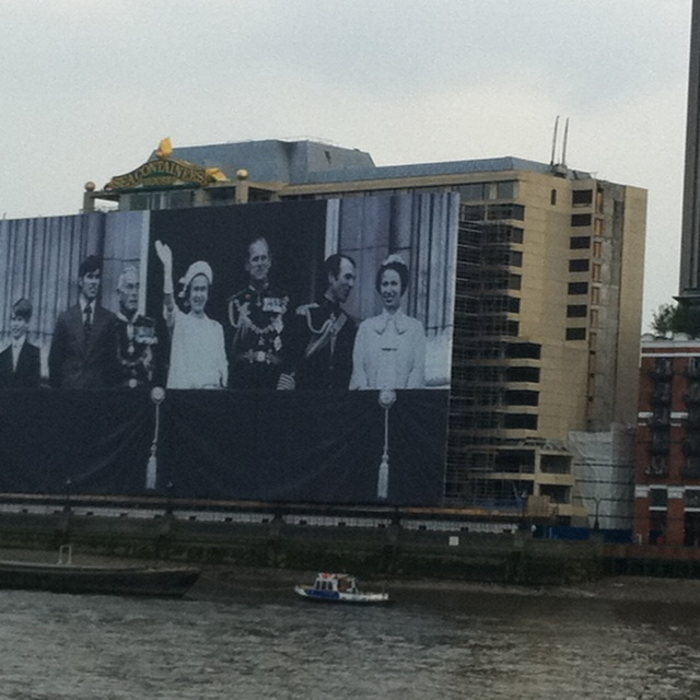 Jubilee Poster May 2012 - on the Thames, London