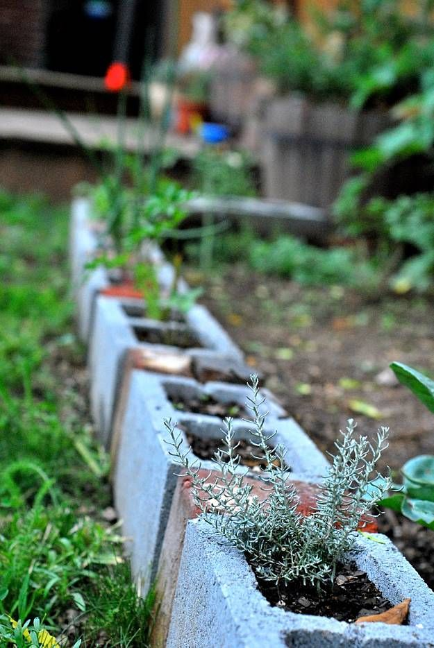 Cinder Blocks Garden Edging | Garden Edging For A Knockout Lawn In 11 Practical Ways