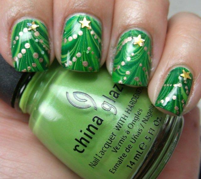 Mejores 35 imágenes de Manicura navideña en Pinterest | Uñas de ...