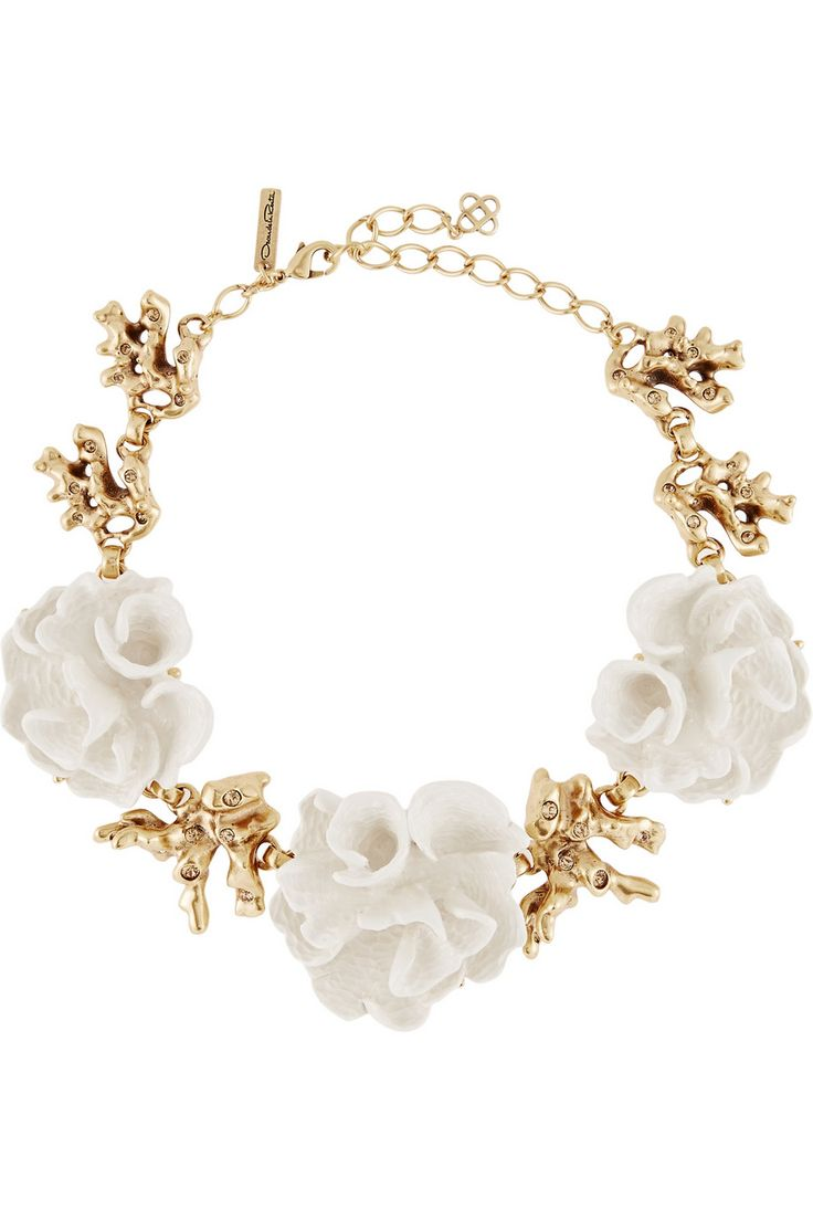 Oscar de la Renta | Gold-plated resin necklace | NET-A-PORTER.COM