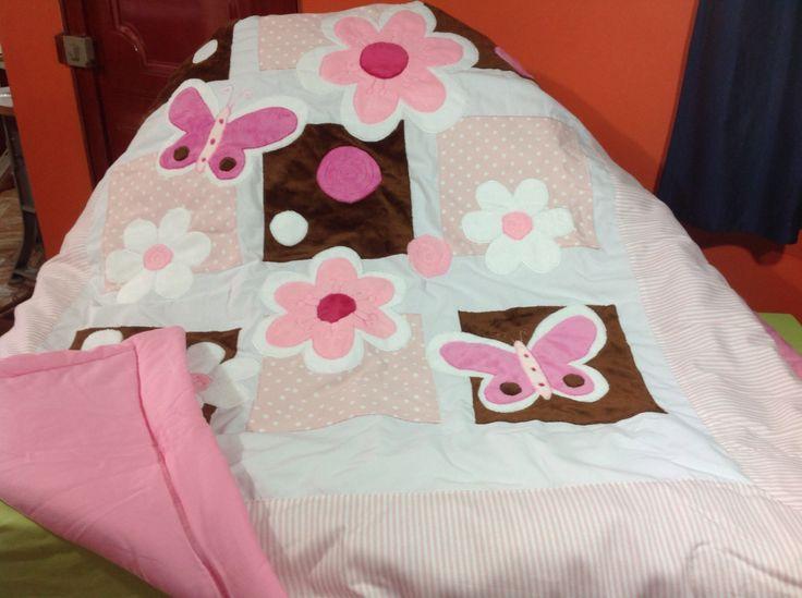 Cubre lecho para niña colección mariposa