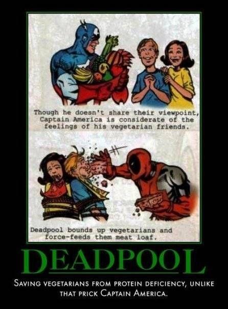 deadpool vs vegitarians