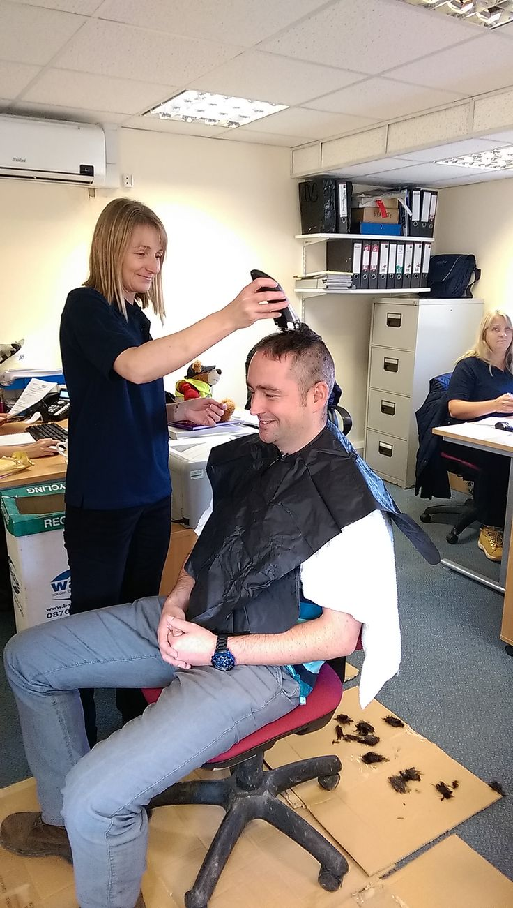 Paul's head-shave for Cancer Research UK. Raised over £1000 for the charity.