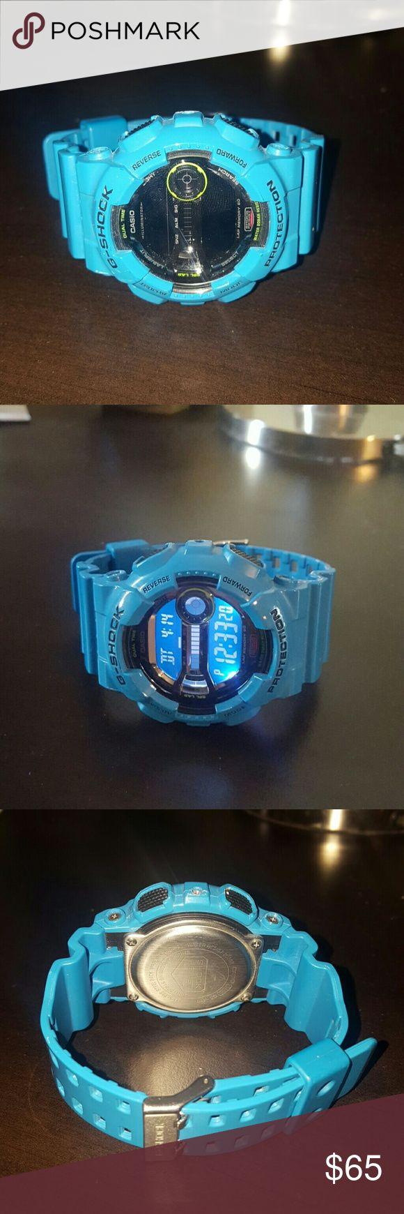 Blue Casio G-Shock Blue g shock. New, no scratches, works great. G-Shock Accessories Watches