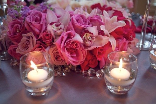 Rose-Orchid-Pink-and-Purple-Centerpiece
