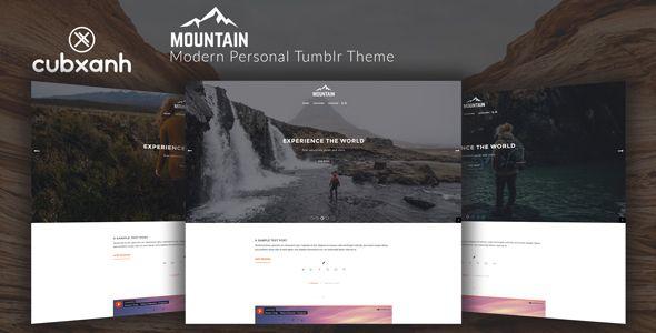 Mountain - Modern Personal #Tumblr Theme