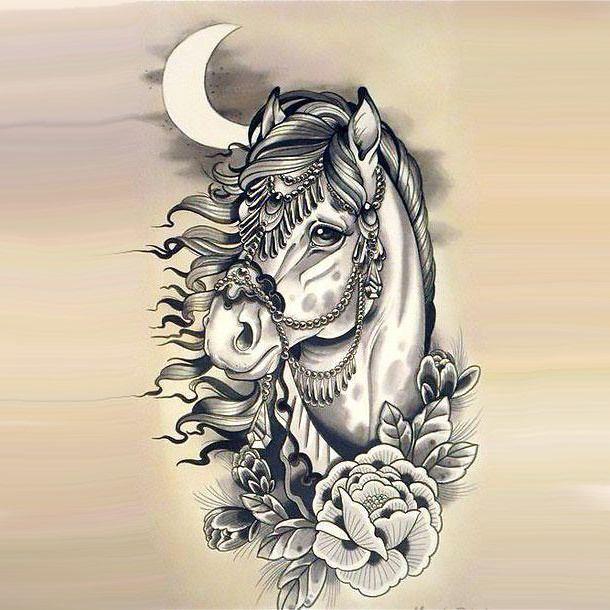 Beautiful Horse Head Tattoo Design Horse Tattoo Horse Tattoo Design Unicorn Tattoos