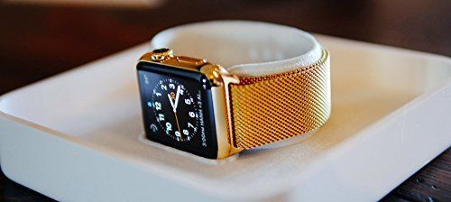 42MM Apple Watch SERIES 2 24K Gold Plated w/Gold Milanese Band   PRODUCT Original Apple Watch SERIES 2 stainless steel customized and professionally gold plated by De Billas with an industrial grade of authentic 24 Karat