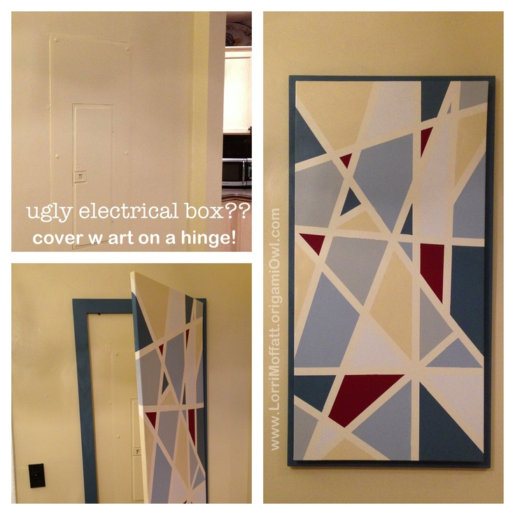 17 best images about entry room fabric covered covering that ugly electrical box some home made canvas art good idea