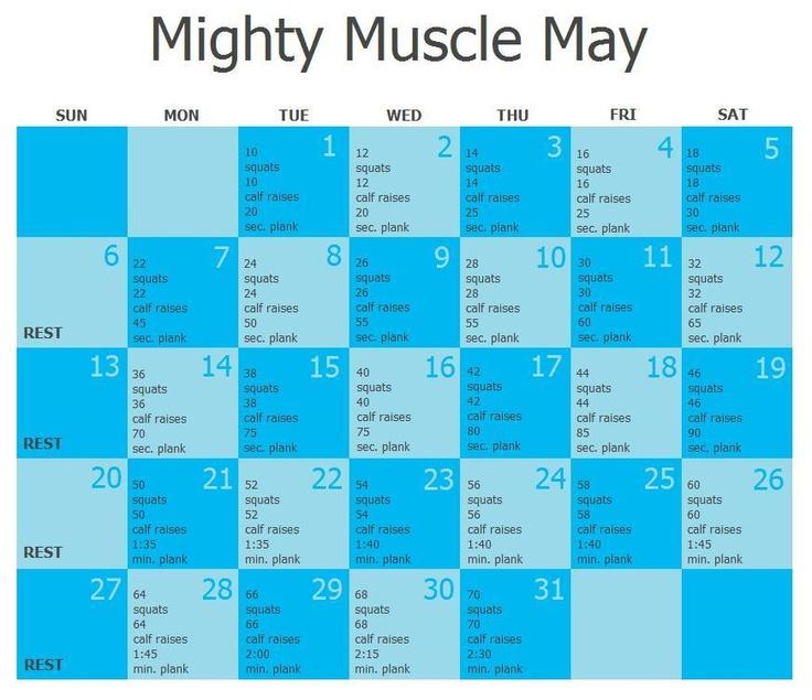 25+ Best Ideas About May Workout Calendar On Pinterest