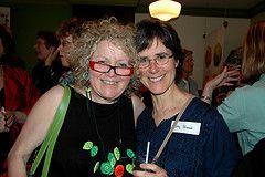 Margie Wolfe (publisher) and Kathy Stinson (author)
