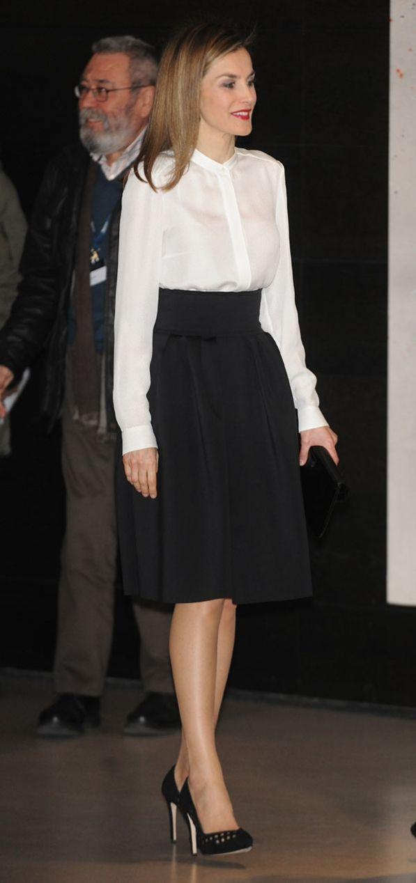 Queen Letizia. #lady #black & #white
