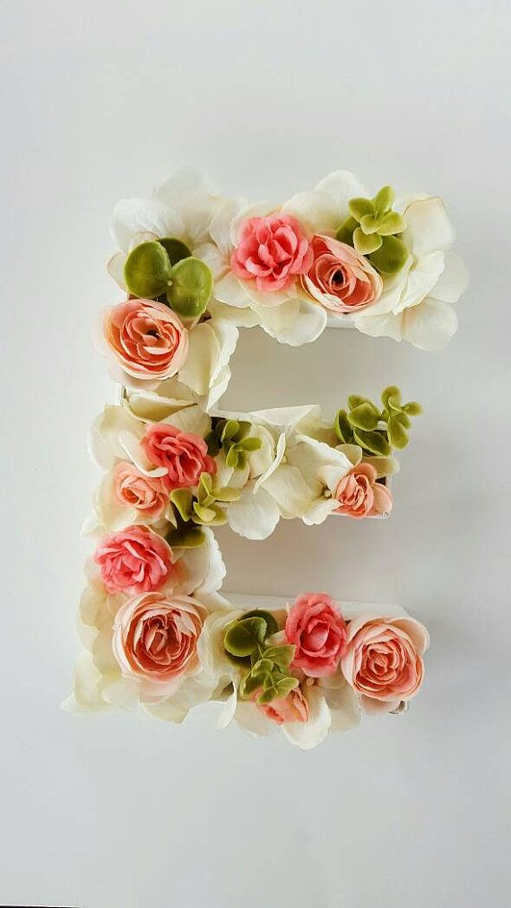 Personalizada Floral flor Letras decoración por StellyBoutique