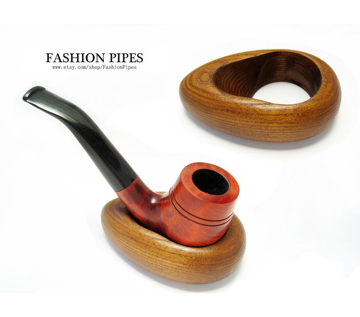 New Wooden Pipe Stand HOOP, Rack Holder for Tobacco Pipe - Smoking Pipe. Handcrafted Pipe Holder for 1 Pipe