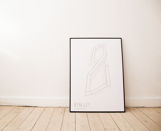 8tallet, 8house Danish Architecture Poster