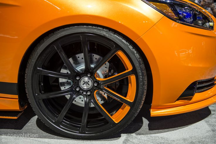 black amp orange rims in focus ford st mk3 fordfocusst