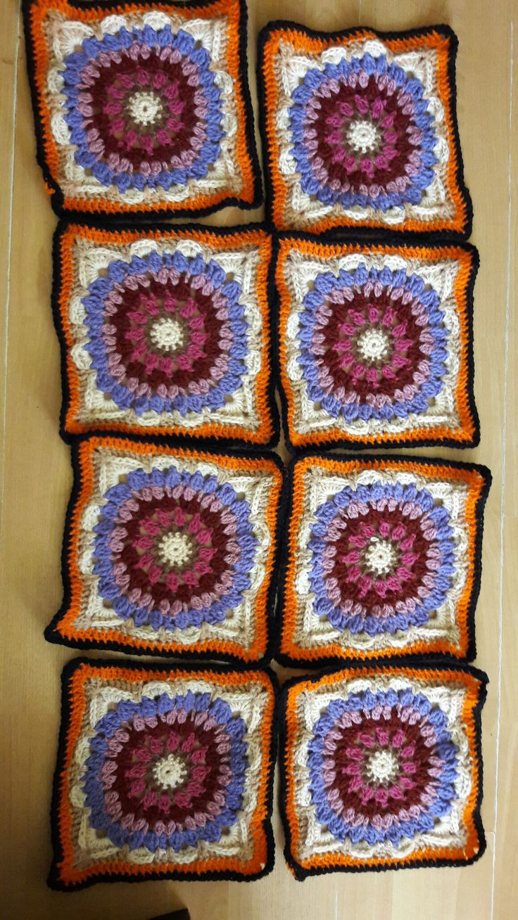 part of the Demelza blanket CAL