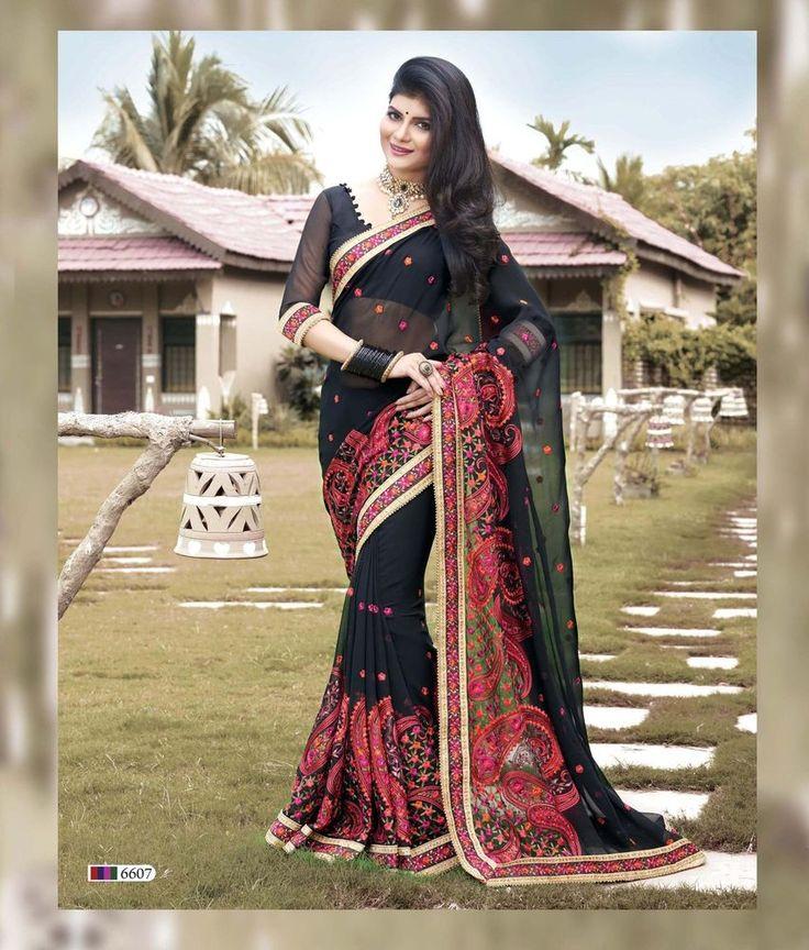 Pakistani Designer Saree Ethnic Bollywood Sari Wedding Traditional Indian 6600 #KriyaCreation #SareeSari