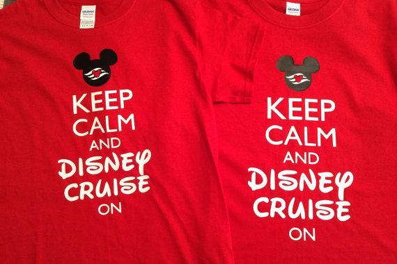 Keep Calm Disney Cruise on Family Shirts by Tsays on Etsy
