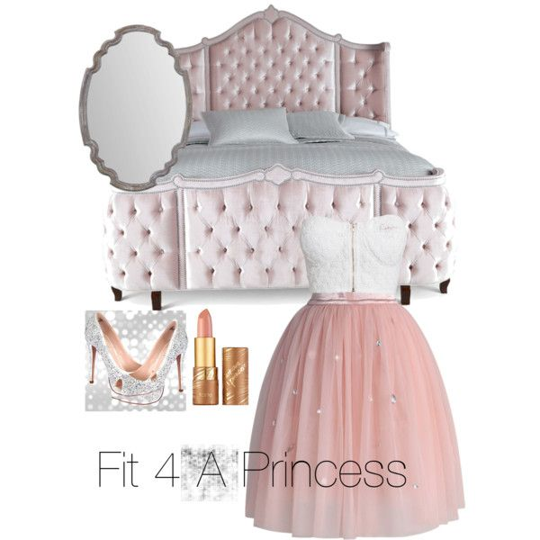 Fit for a princess!! by mafuja15 on Polyvore featuring polyvore, fashion, style, NLY Trend, Chicwish, Lauren Lorraine, tarte and Haute House