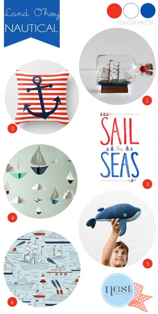 ALL ABOARD: LATEST NAUTICAL FINDS #nautical #ohitsperfect #nurserydecor #interiors #kidsroom