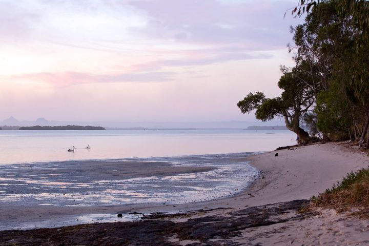 Late afternoon light on Bribie